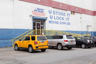 Self storage in long island city entrance