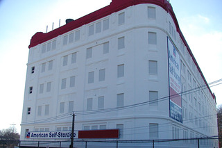 Building at self storage units in staten island