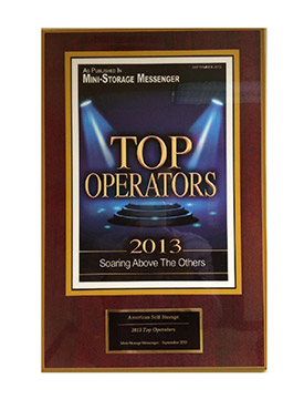 One of the many awards given to our Self Storage business