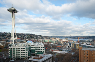 North northeast view from Seattle Apartments rooftop