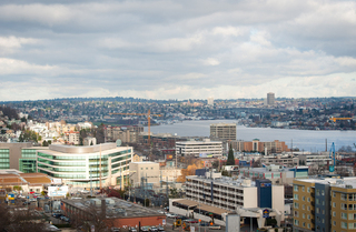 Northeast view from Seattle Apartments rooftop