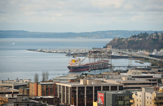 Northwest view from Seattle Apartments rooftop