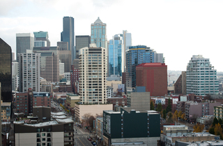 South southeast view from Seattle Apartments rooftop