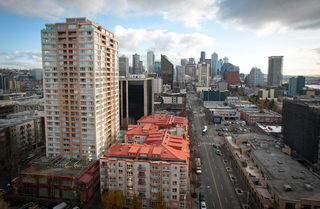 Southern view from Seattle Apartments rooftop