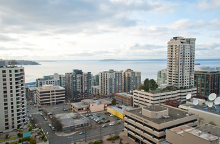 West view from Seattle Apartments rooftop