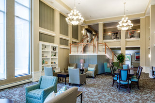 Senior living in Hopkins has a big library