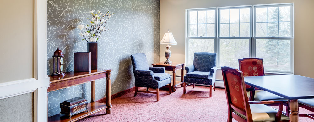 Common room in Hopkins senior living