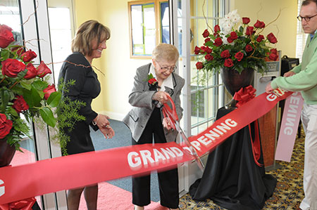 Heritage Senior Living celebrating the grand opening of a new location