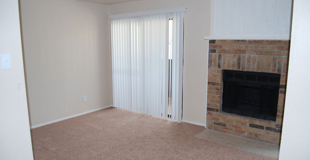 Elegant fireplace at apartments in Fort Worth