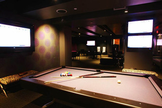 Billiards table at apartments in Los Angeles