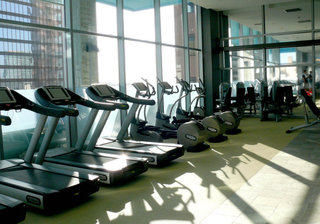 Cardio room at apartments in Los Angeles