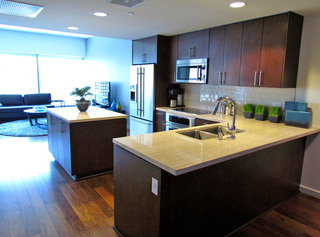 Kitchen at apartments in los angeles