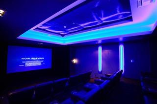 Movie theater at apartments in Los Angeles