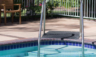 Pool area at our apartments in Ojai