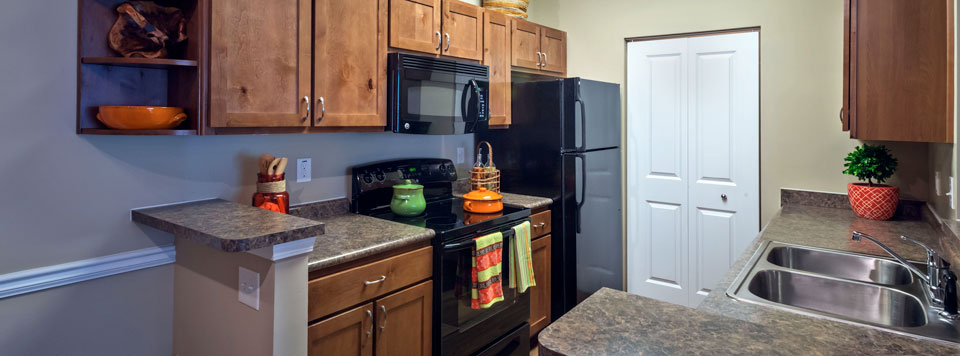 Apartments in Greenville have luxury kitchens