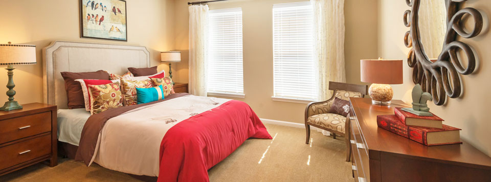 Greenville apartments have spacious master bedrooms