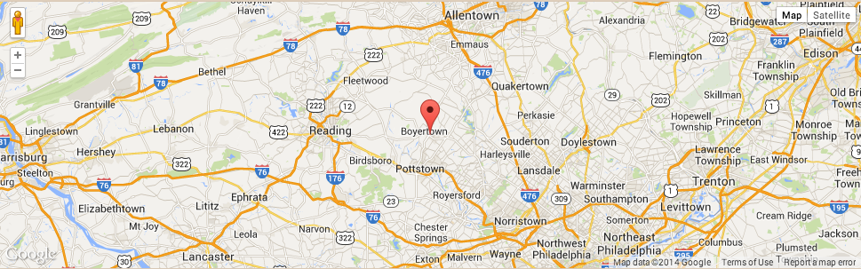 Areas served for Chestnut Knoll at Home - Gilbertsville