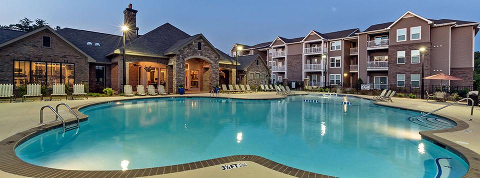 Apartments in Greenville has a luxury swimming pool
