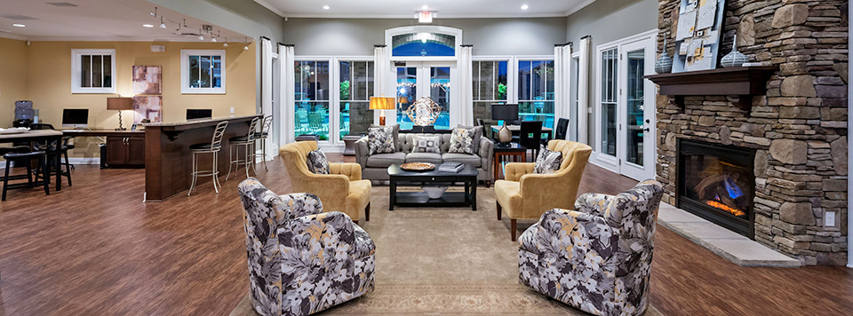 Elegant club house in Greenville apartments