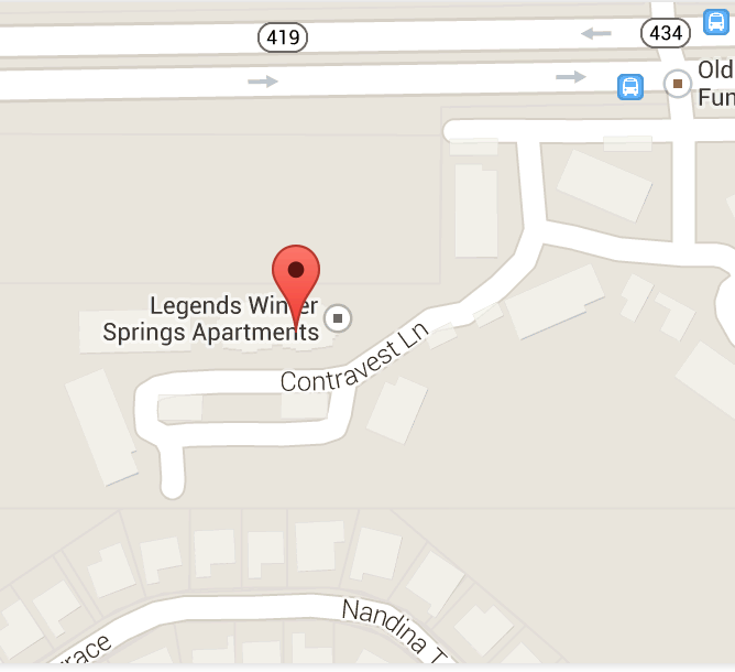 Map & Directions to our apartments in Winter Springs