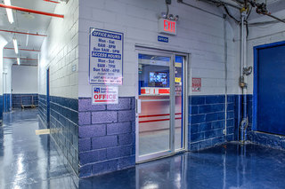 Office entrance at staten island self storage