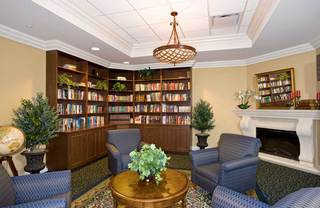 Library at senior living in lakeland