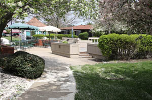 Patios at  independent living in Sewell