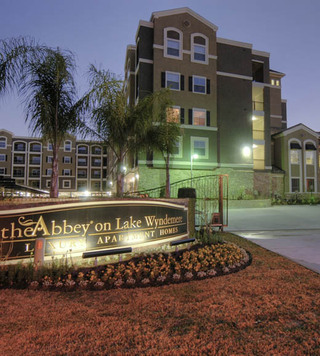 Apartments woodlands texas entry sign