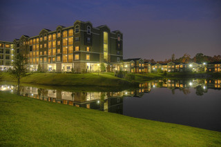 Night time luxury apartments texas