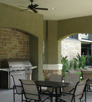 Woodlands texas luxury apartments bbq