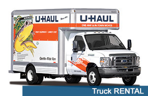 We offer truck rental for our self storage clients