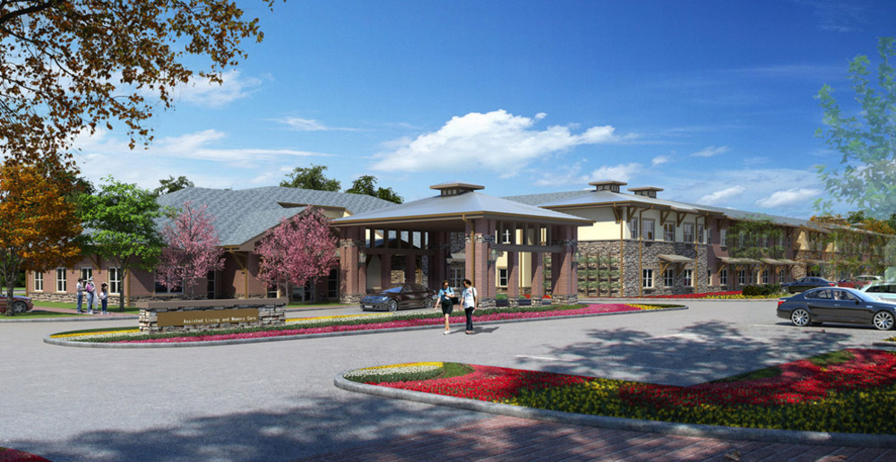 Mansfield senior living entrance