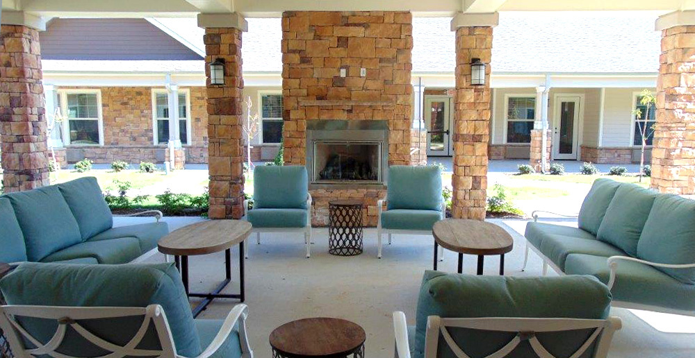Assisted living in spring texas porch fireplace