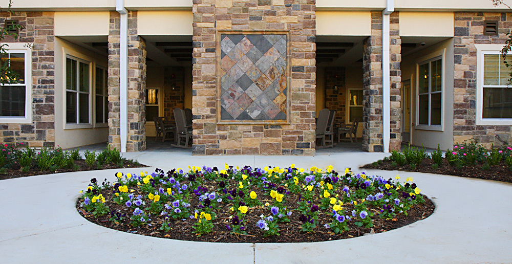 Assisted living in irving texas courtyard garden
