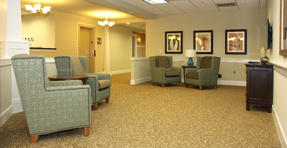Assisted living in irving texas sitting area