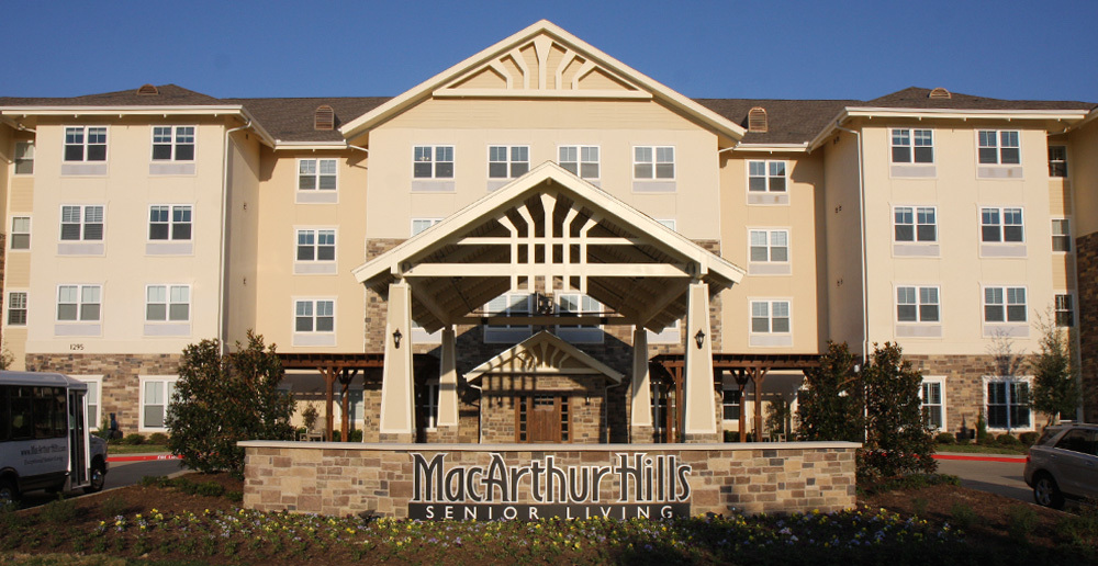 Assisted living in irving texas front sign