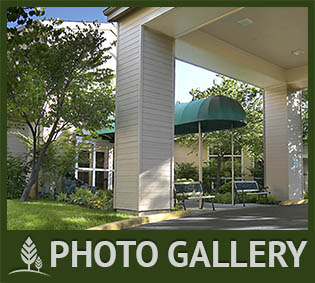 Photos of The Terraces Senior living facility in Chico, California,