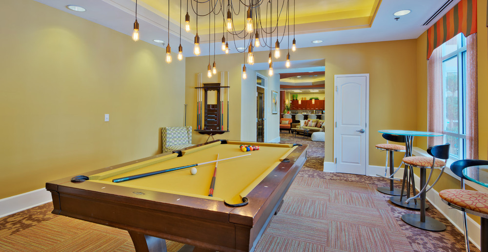 Raleigh billiard room at the apartments