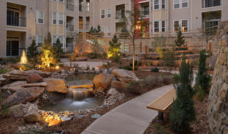 Welcoming front entrance apartments lone tree
