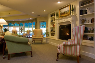 Interior lounge at senior living facility in manchester center