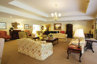 Manchester center senior living facility lounge