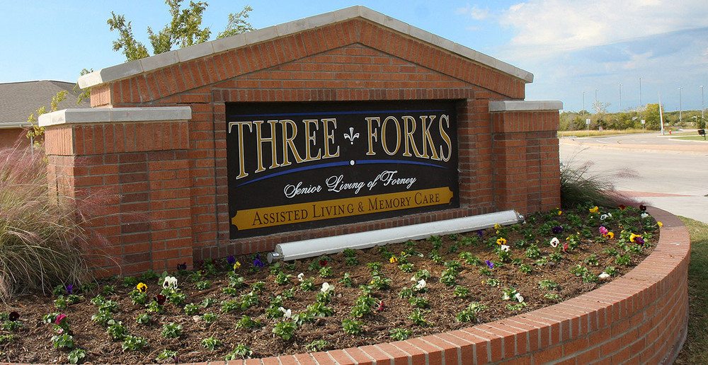Assisted living in forney texas sign
