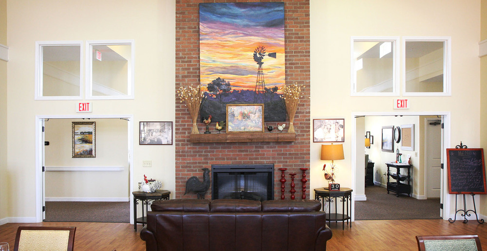 Assisted living in forney texas fireplace