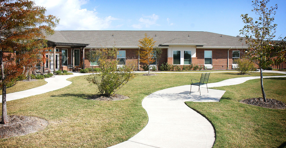 Assisted living in forney texas walkway