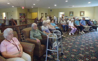 Gathering of residents at harleysville senior living