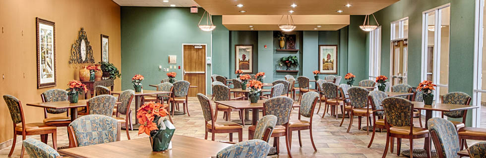 Senior Dining in Plano Texas Accel Rehabilitation Hospital of Plano