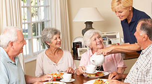 Senior living hospitality by Americare.