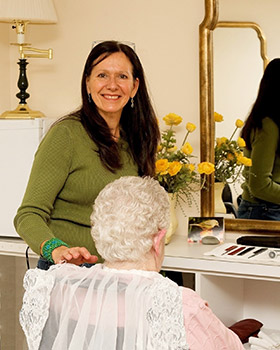 Woodstock VT senior living salon service available at Woodstock Terrace.