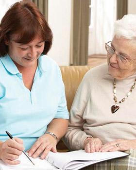 Financial planning for the next steps at {[store.branded_name}} senior living in Woodstock, VT.