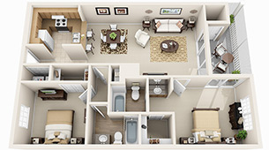 Floor Plans at Audubon Oaks